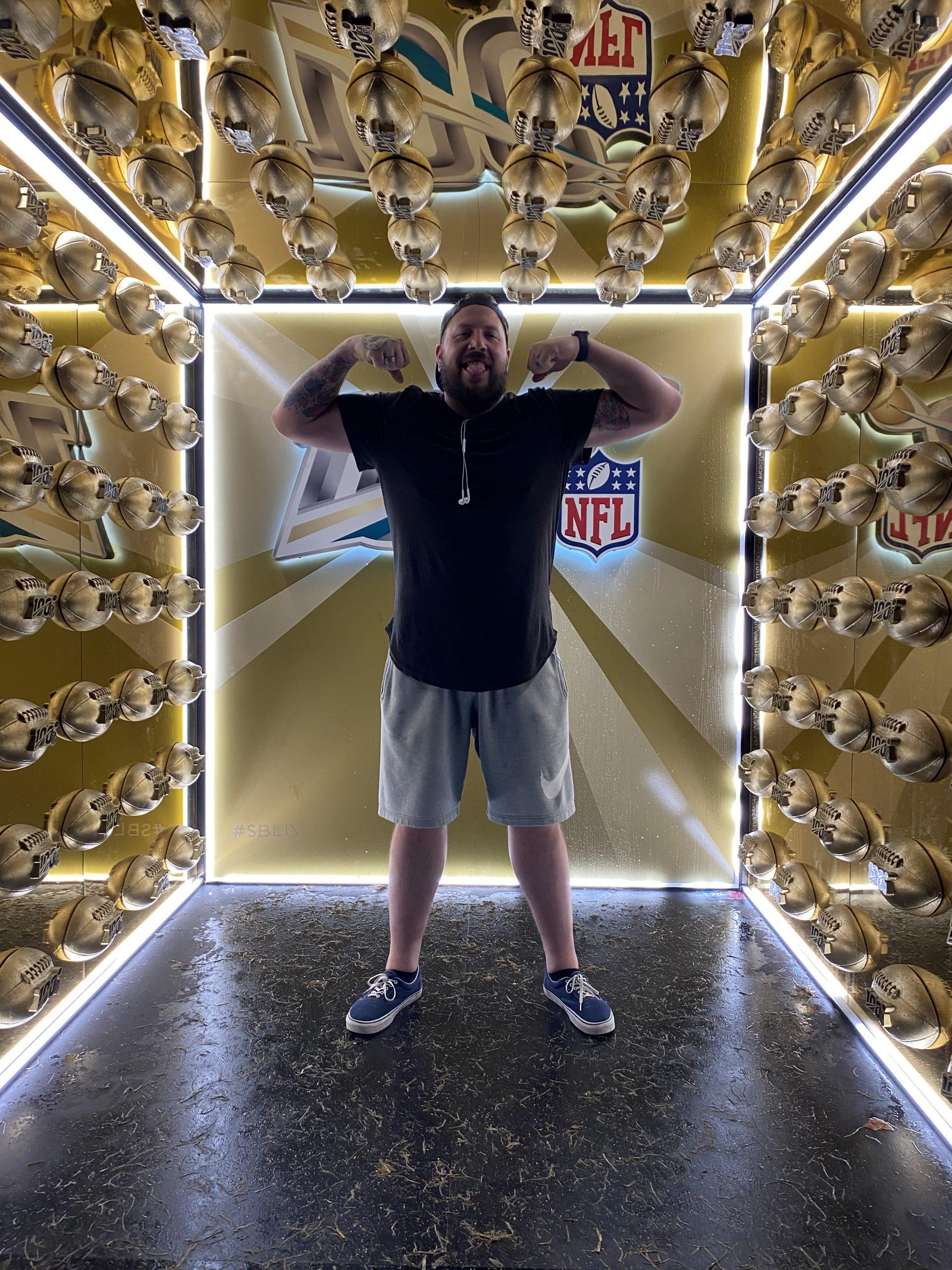 Jens Bracht beim Super Bowl LIV in Miami